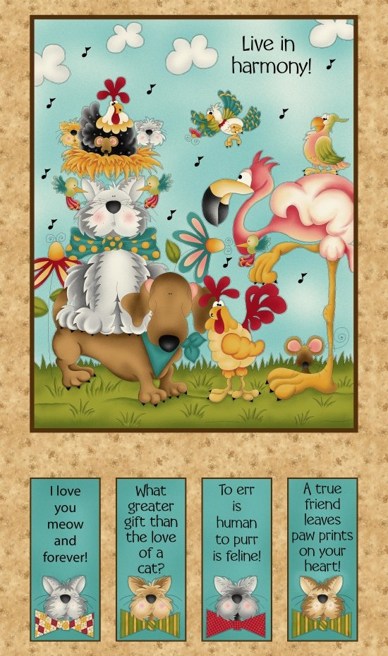No Fowl Play 8712P 44 Panel #104