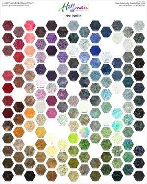 Hoffman Spectrum Digital - Dot Batik Multi 130 Panel 227