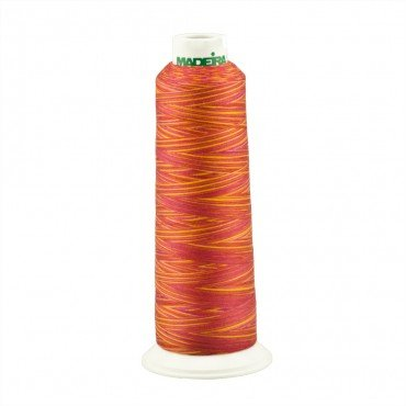 Madeira Poly AeroQuilt 40wt Variegated 9506 Coral Fish 3000yds
