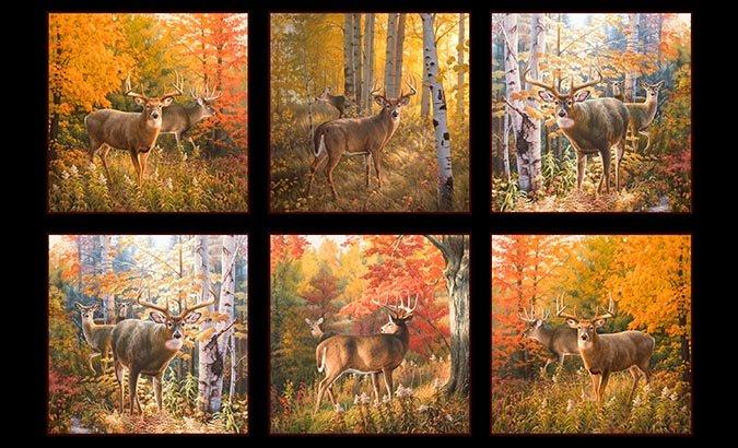 Autumn Surprise Panel #207 - 9200 Black