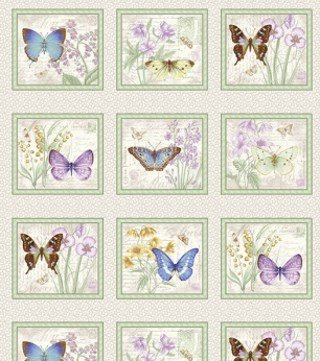 Butterfly Botanical 9847P-95 Panel #65