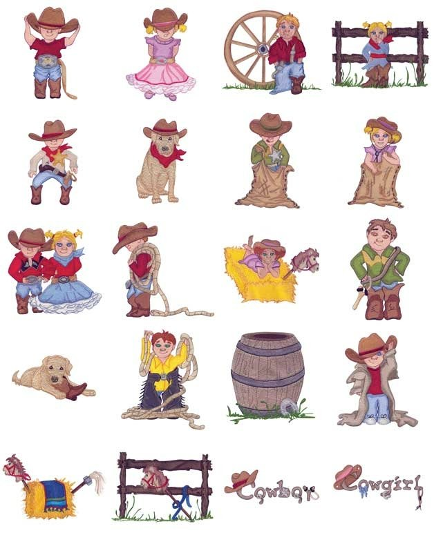 ADC-187 Western Dress-Up Embroidery CD
