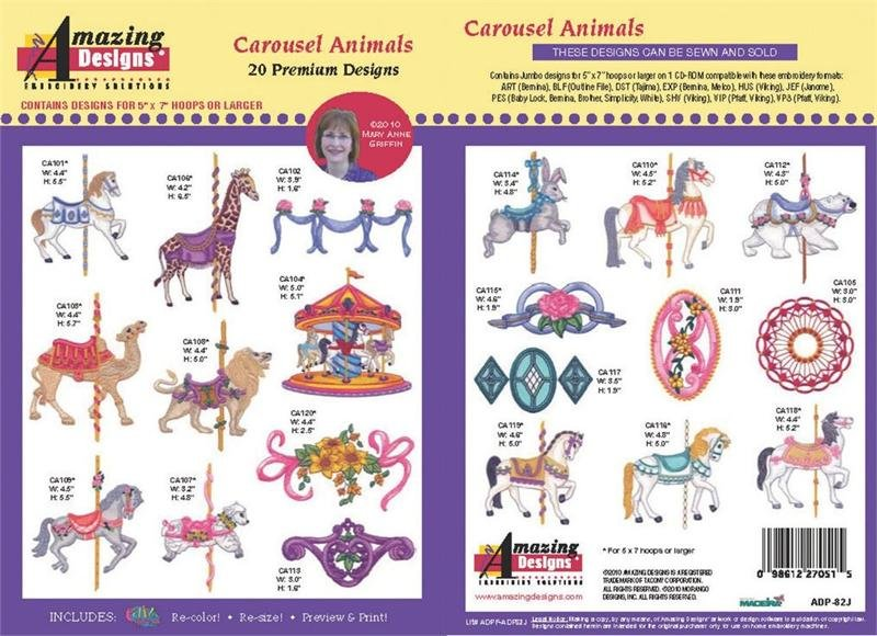 ADP-82J Carousel Animals Embroidery CD
