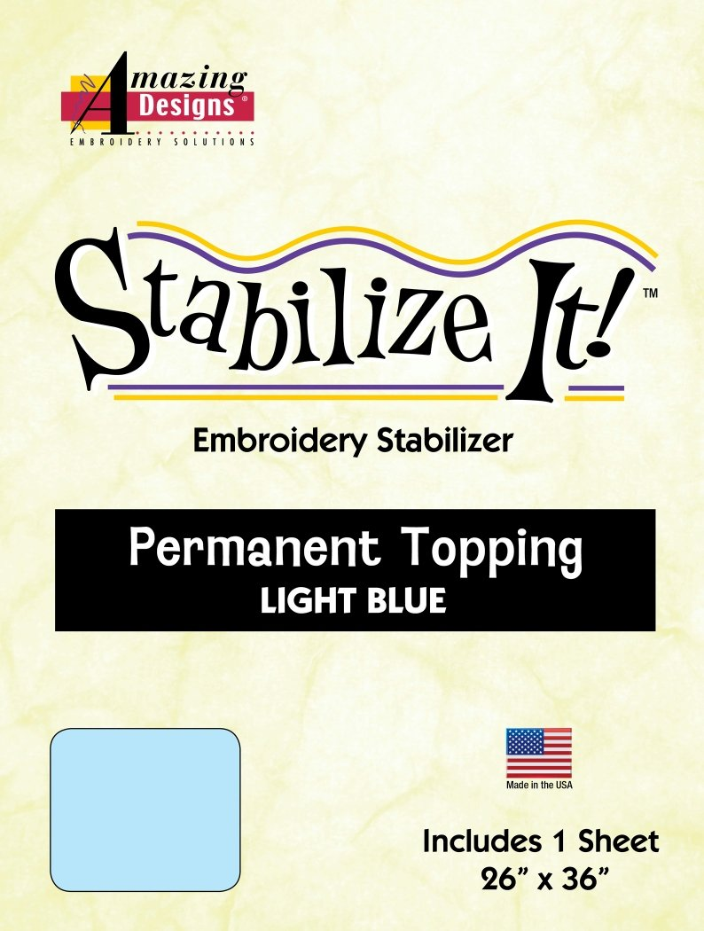 Stabilize It! 26 x 36 Sheet Light Blue Permanent Embroidery Topping