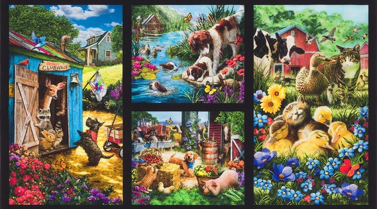 Down On The Farm Panel #133 - Country Digital Print 18323 276
