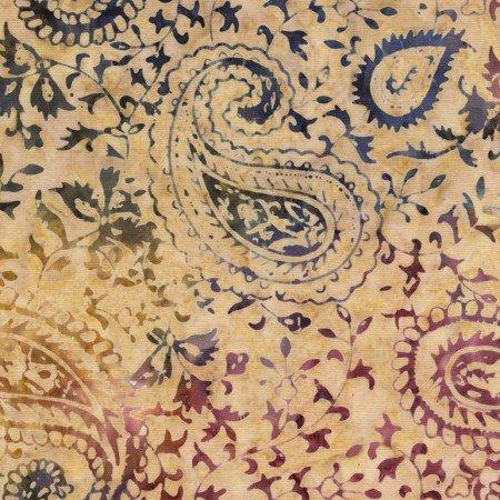 Tonga Batik - Ethnic Paisley Tan B4864