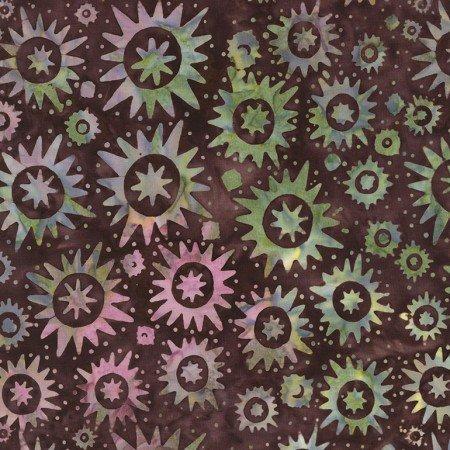 Cactus Mini - Starbursts Batik Mulberry B4931