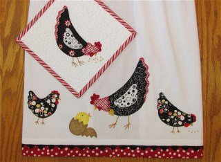 Barnyard Beauties Tea Towel & Potholder CNS327