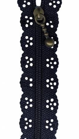8 Little Lacie Zipper - Navy
