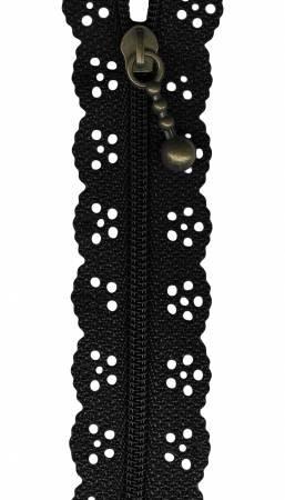 12 Little Lacie Zipper - Black