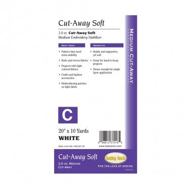 Cut Away Soft Stabilizer 2oz White BLC201 20 x 10yds *