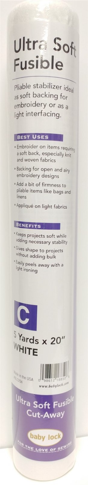 Ultra Soft Fusible Stabilizer BLC204 - 5yd x 20 *