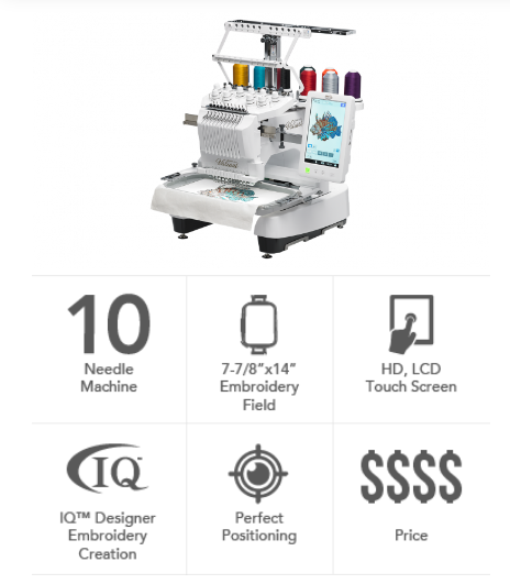 Baby Lock Valiant Multi-Needle Embroidery Machine BMV10
