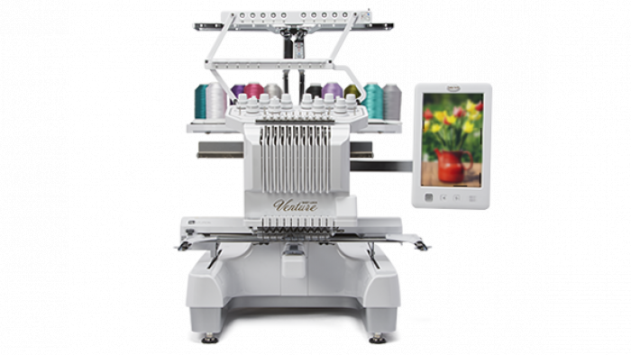 Baby Lock Venture 10 Needle Embroidery Machine BMVT10-ENT with Table.