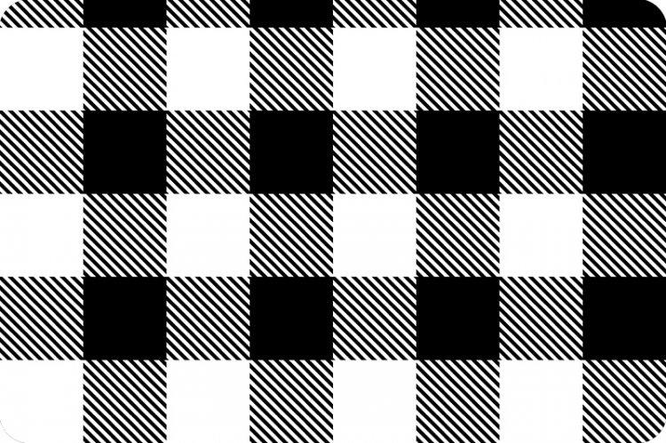 Buffalo Check Cuddle 58/60 - Black/White