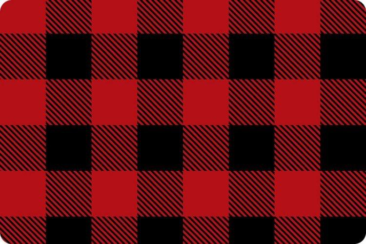 Buffalo Check Cuddle 58/60 - Scarlet/Black