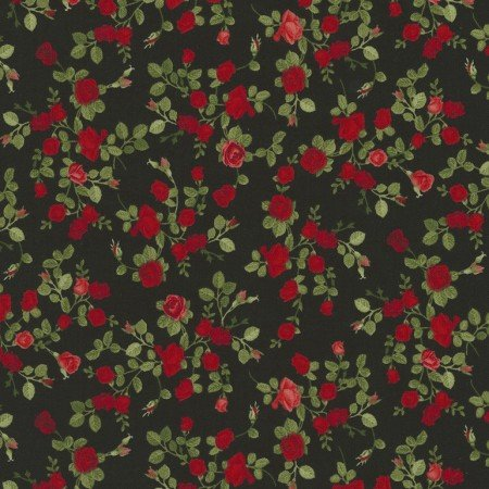 Glamour Tiny Roses Black C5047