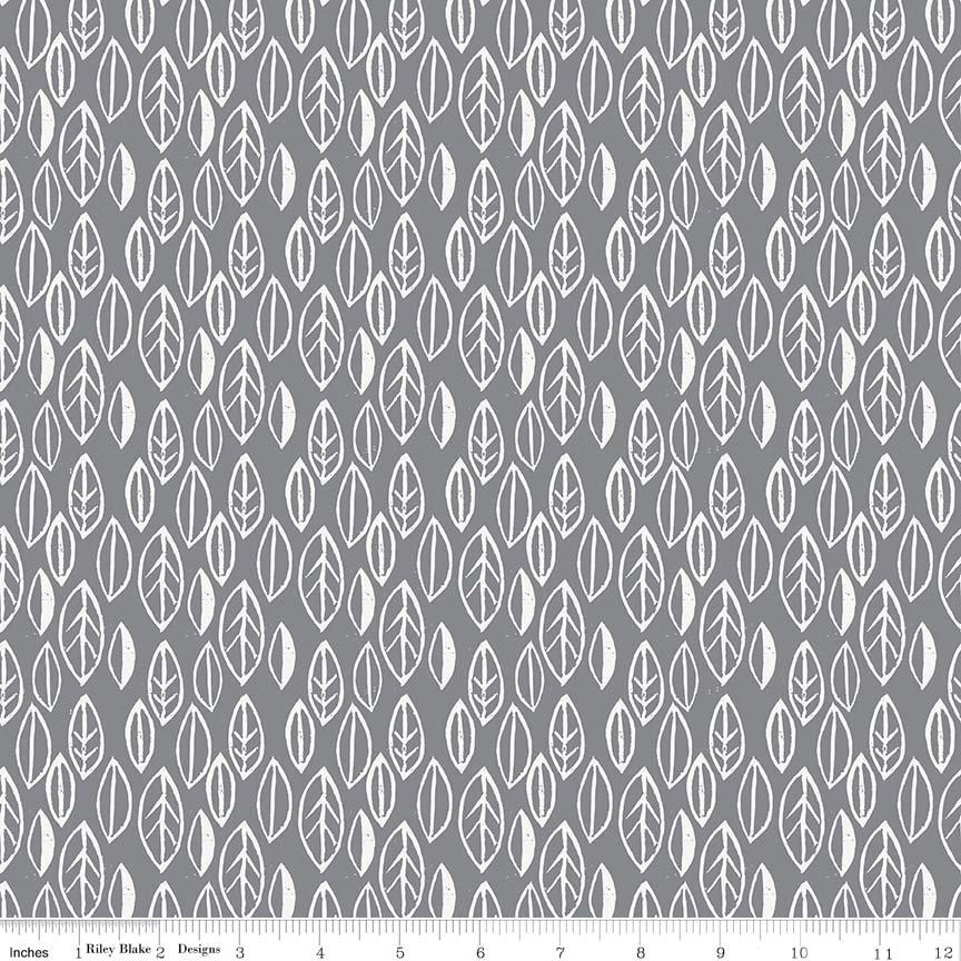 Curiosities - Leaves Gray C6296