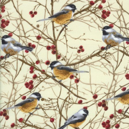 Nature - Chickadees C7206 Cream
