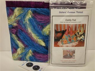 Caddy Pad Kit C Blue and Purple Feathers