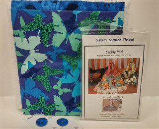 Caddy Pad Kit D Blue/Green Butterfly Print