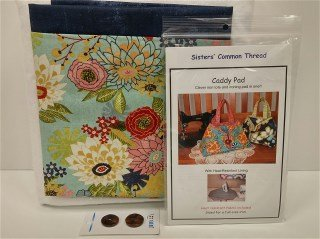 Caddy Pad Kit E Textured Navy with Floral Print