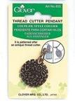 Thread Cutter Pendant Antique Gold Clover 455
