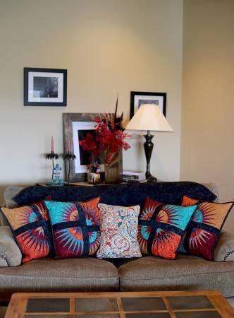 Desert Sunset Pillow Set Pattern CLPQLT004