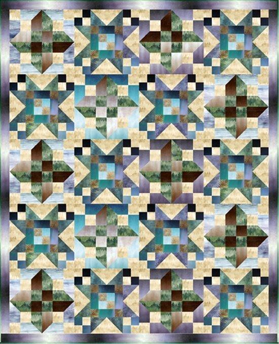 Hoffman Lake Time Kit with Pattern - CMLT 311 65 x 80