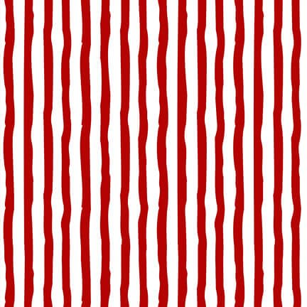 Winter Whimsy Flannel - Stripe Red/White F1626 8