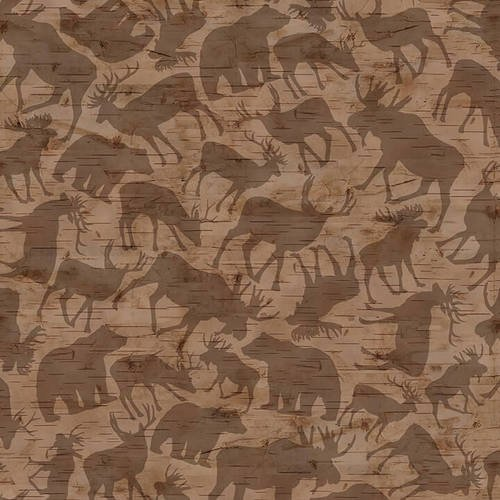 Woodland Haven Flannel - Animal Silhouette Brown F1735 33