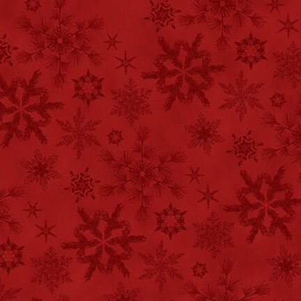 Woodland Haven Flannel - Snowflakes Red F1737 88