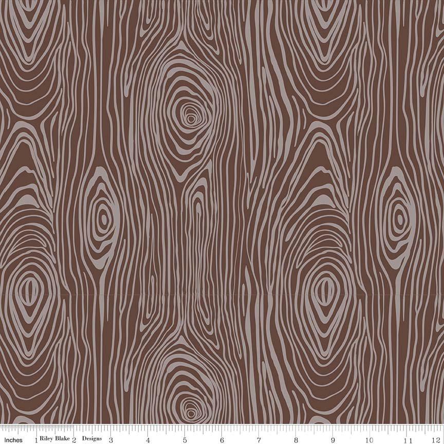 Knock Wood Flannel - Brown F5431