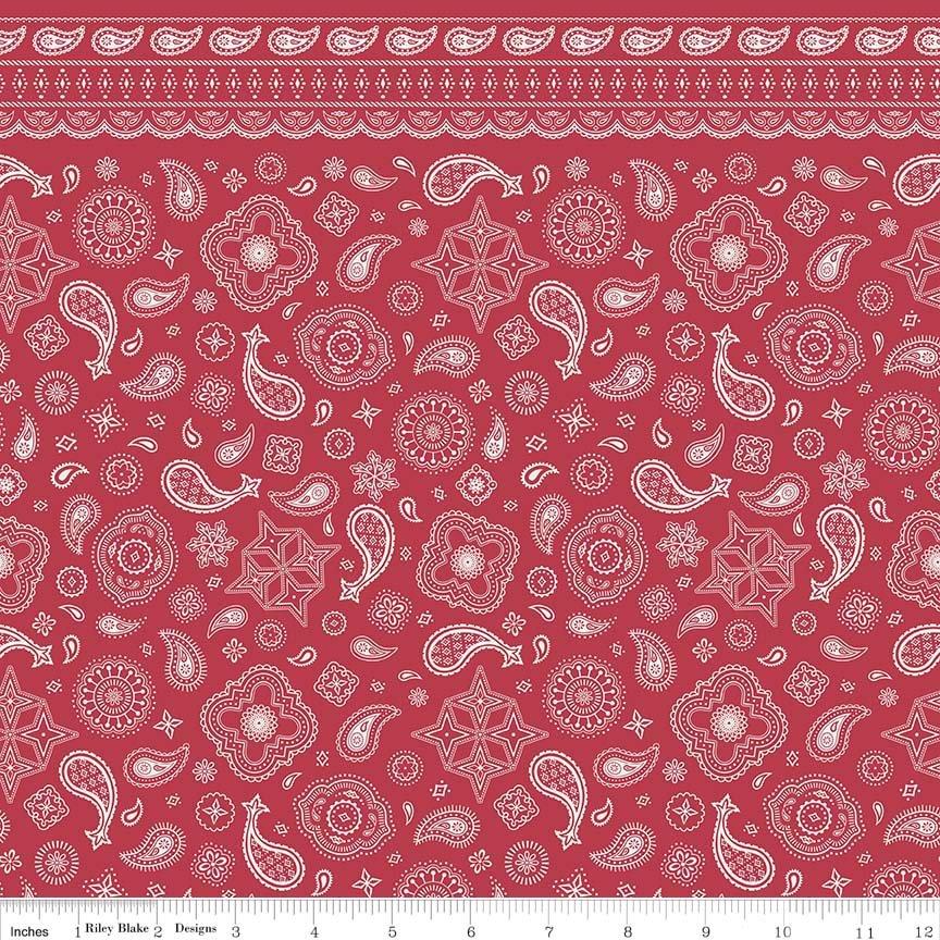 Cowgirl/Boy Bandana Flannel - Red F5633