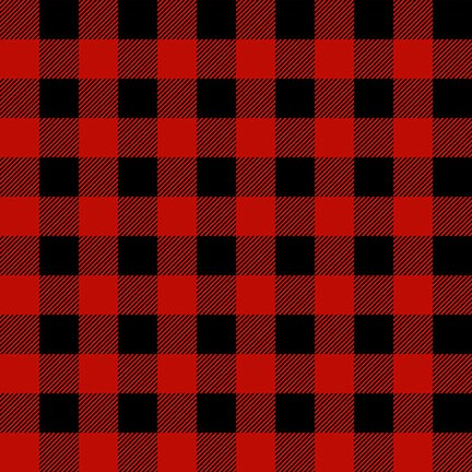 Flannel Gnomies - Buffalo Check 9270 89 Red and Black