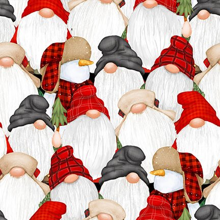 Flannel Gnomies - Stacked Gnomies 9271 89 Multi