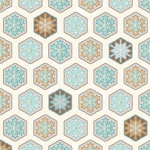 I Love Sn'Gnomies Flannel - Hexi Snowflakes F9642 13 Multi