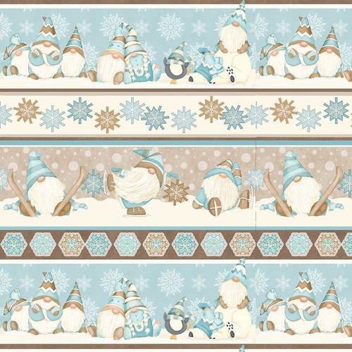 I Love Sn'Gnomies Flannel - Gnome Novelty Stripe F9645 13 Multi