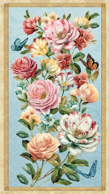Delicate Romance Wall Hanging Panel #198