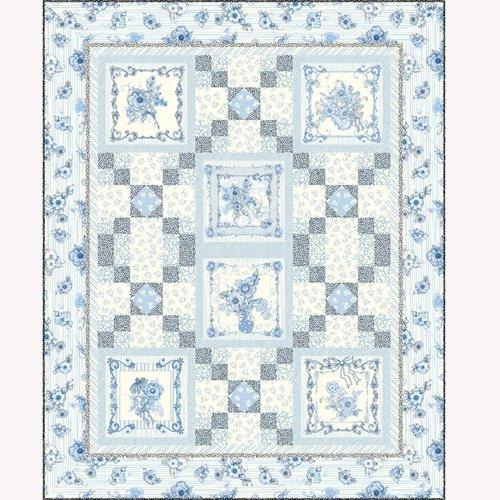 Flora Bleu Kit 49 x 61