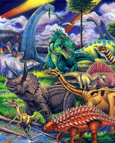 Fosal Wild Instincts - Dinosaurs 3488-7C Panel #108