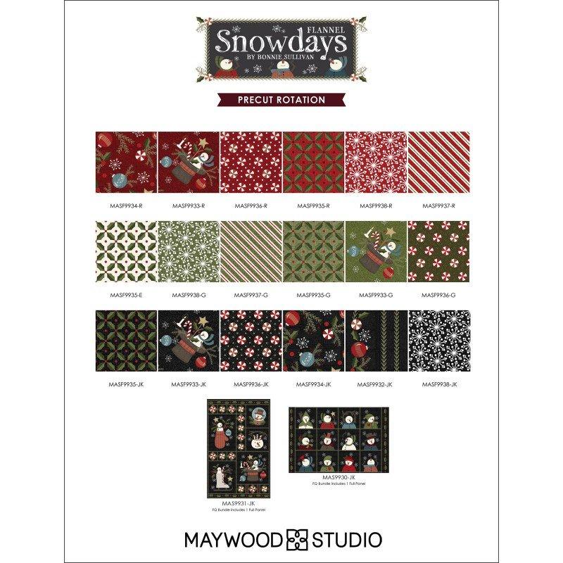 Snowdays Flannel - Fat Quarter Bundle with two panels