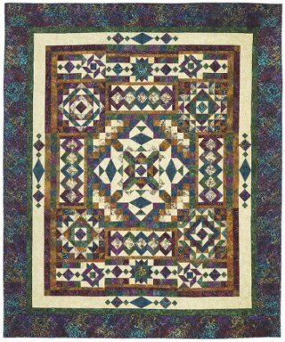 Gemstone Block of the Month Fabric and Pattern Kit