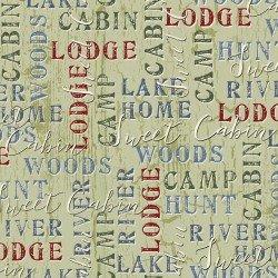 Twilight Lake - Word Print 1687 66