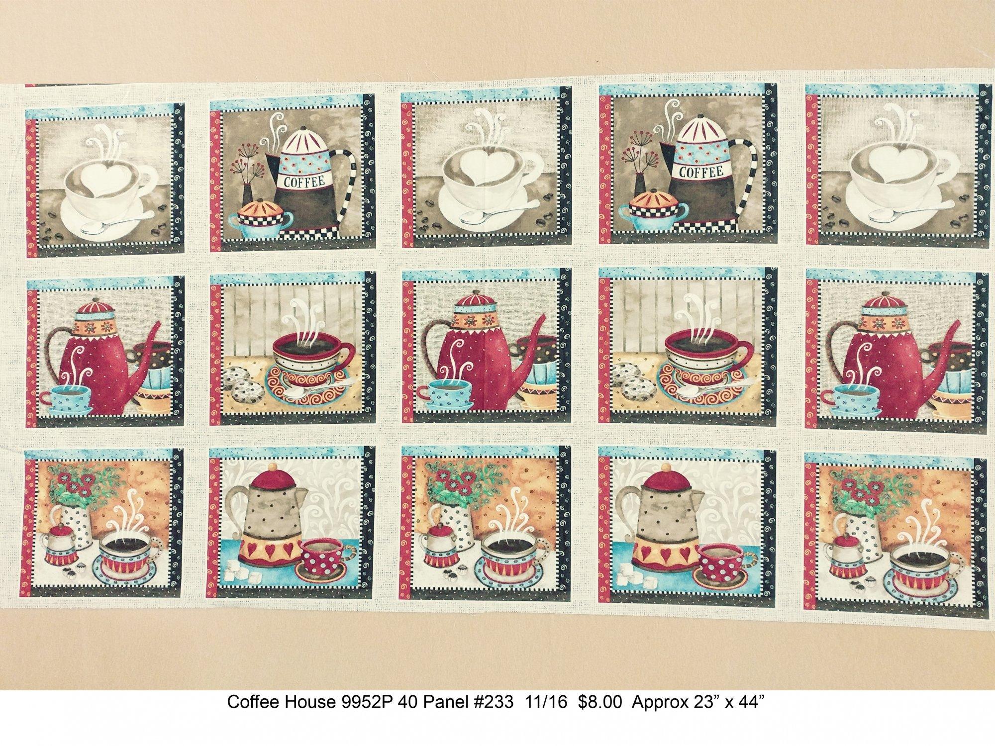 Coffee House 9952P 40 Panel #233