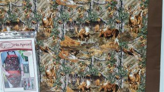 His Apron C - Wildlife Print with Brown Accent