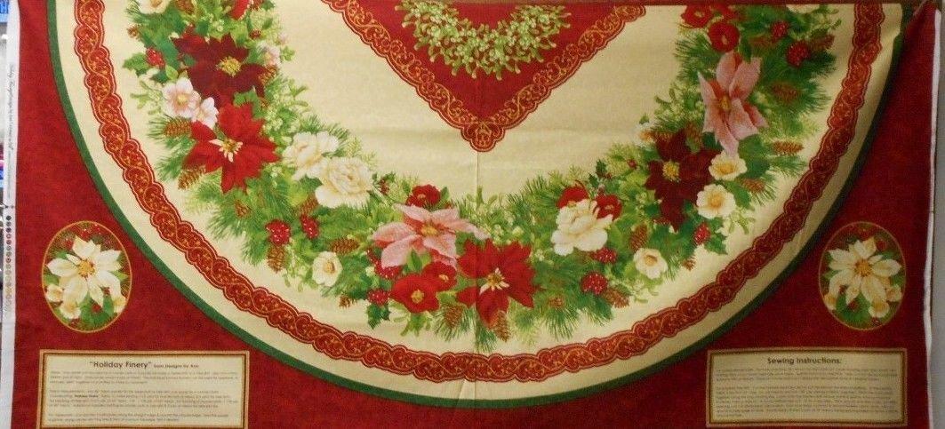 Holiday Finery Panel Tree Skirt Panel #216