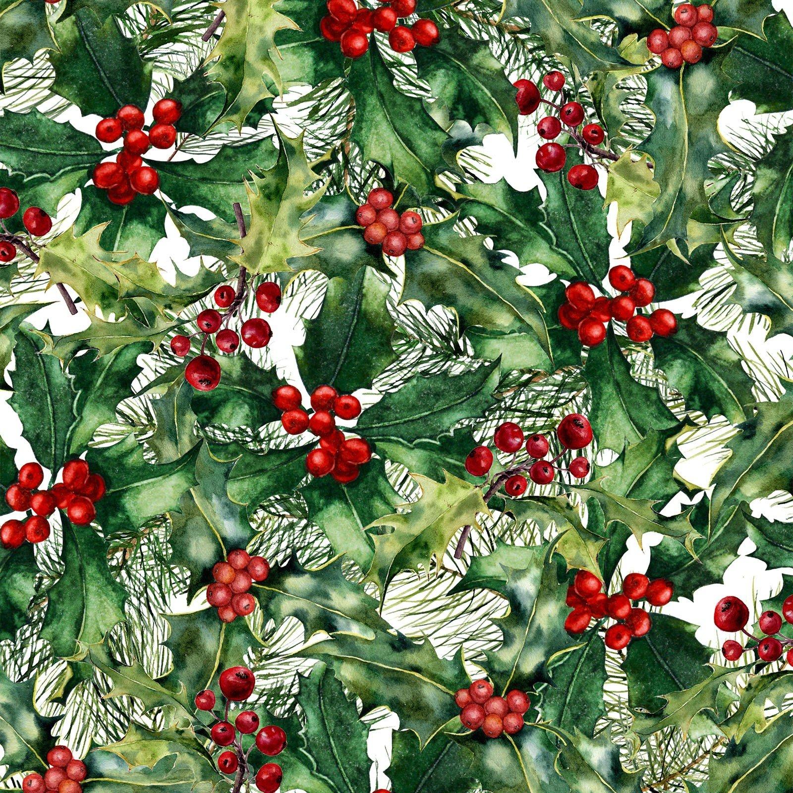 A Poinsettia Winter - Red/Green Digital 5APW 1