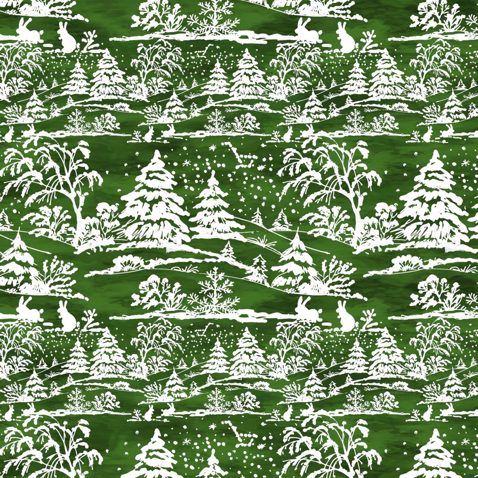A Poinsettia Winter - Green Digital 6APW 2