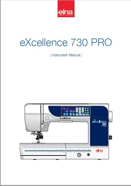 Instruction Manual Elna eXcellence 730
